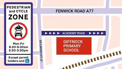 Giffnock Primary school street map