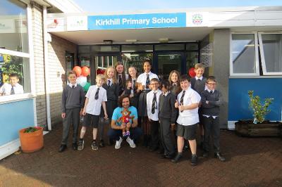 Joe Wicks visits Kirkhill Primary